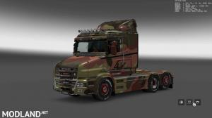 Military Camo Paint Job for RJL Scanias T/T4/R/R4, 7 photo