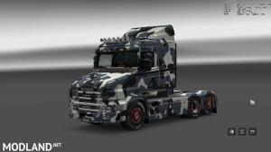 Military Camo Paint Job for RJL Scanias T/T4/R/R4, 11 photo