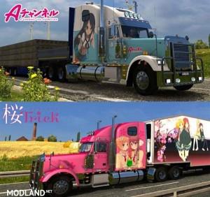 Freightliner Classic XL Anime Skin Pack v 1.0