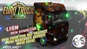 Lion Skin Pack for All Trucks