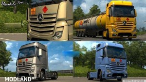 Mercedes Actros MP4 2014 ADR Plates Skin