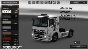 Mercedes Actros Tribal Skin