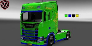 Paintable Skin for New Scania S, 1 photo
