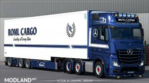 ROML Cargo Mercedes-Benz Actros MP4 and Ekeri Jumbo Trailer Deluxe Edition Skinpack, 1 photo