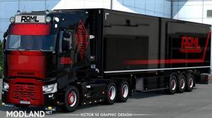 ROML Cargo Logistics Renault T Range and Schwarzmuller Reefer Skinpack, 1 photo