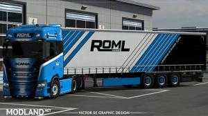 ROML Cargo Special Scania S 2016 and Krone Profiliner Skinpack
