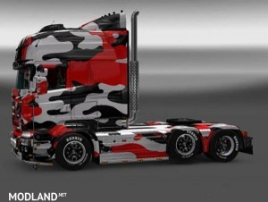 Red Camouflage Skin for Scania RJL R Multi, 1 photo