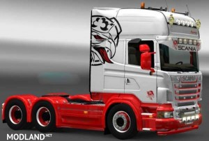 Scania Red White Skin, 1 photo