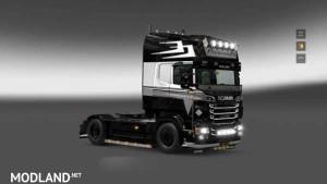 Scania RJL Holland Style Black Skin