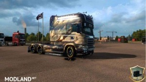 Scania RS Sky Angels Skin