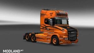 Scania T Orange Fury Skin