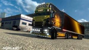 Skin Gold maniac for RJL Scania EXC LONGLINE + trailer, 1 photo