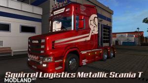 Squirrel Logistics Metallic skin Scania T, 2 photo