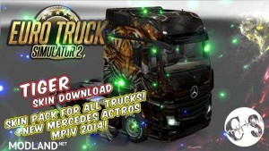 Tiger Skin Pack for All Trucks