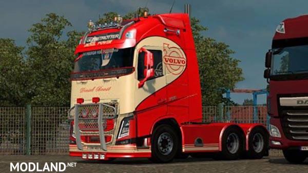 Seat Skins For Trucks >> Volvo FH 16 2013 v19.0 Ohaha Diesel Beast Skin mod for ETS 2