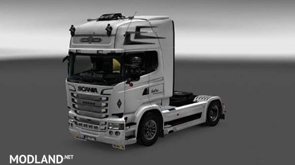 white scania rs skin mod for ets 2. Black Bedroom Furniture Sets. Home Design Ideas