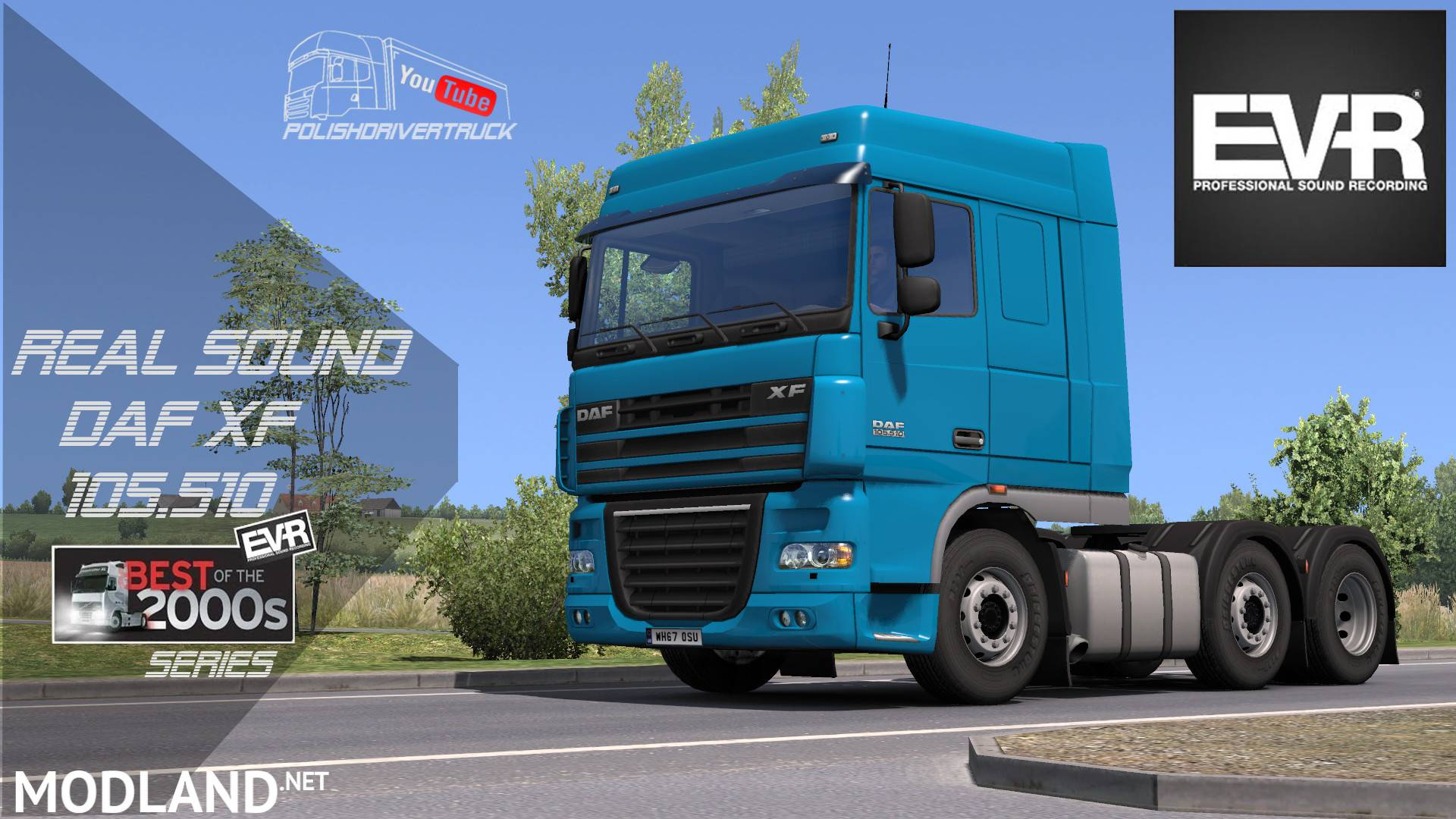 Authentic sound DAF XF 105 510 Engine Voice Records mod for