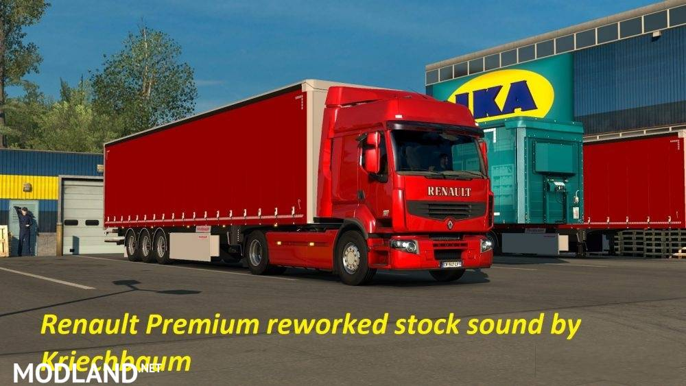 renault premium reworked stock sound mod for ets 2