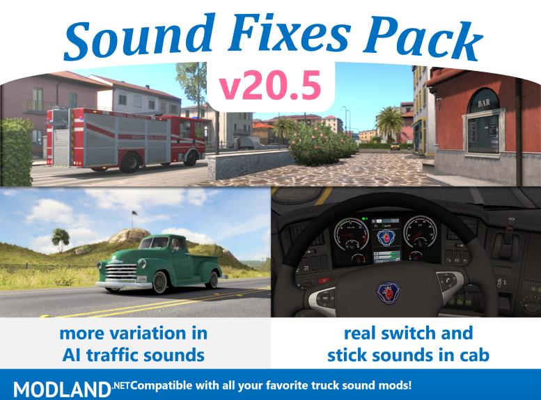 Sound Fixes Pack v20.5 ETS2 1.36