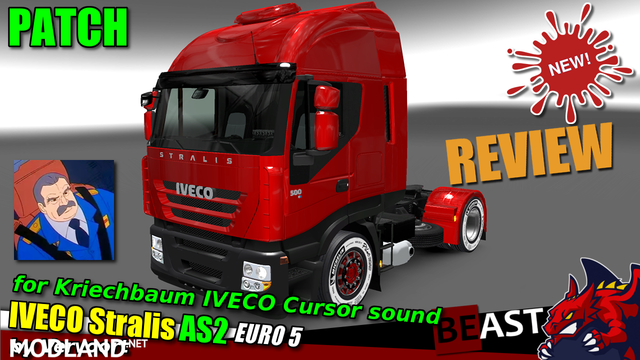 "Kriechbaum ""IVECO Cursor sound"" PATCH for ""IVECO Stralis AS2"" by Vervoort"