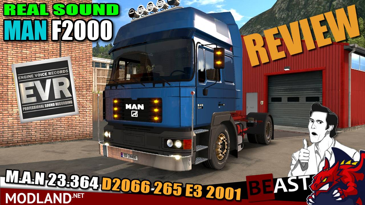 Real Engine Sound  MAN F2000 (M.A.N 23.364 D2066 265 E3 2001) by Engine Voice Records