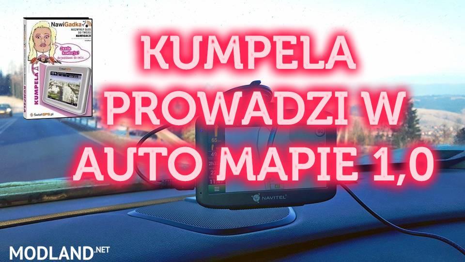 POLISH VOICE KUMPELA PROWADZI W AUTO MAPIE 1.0