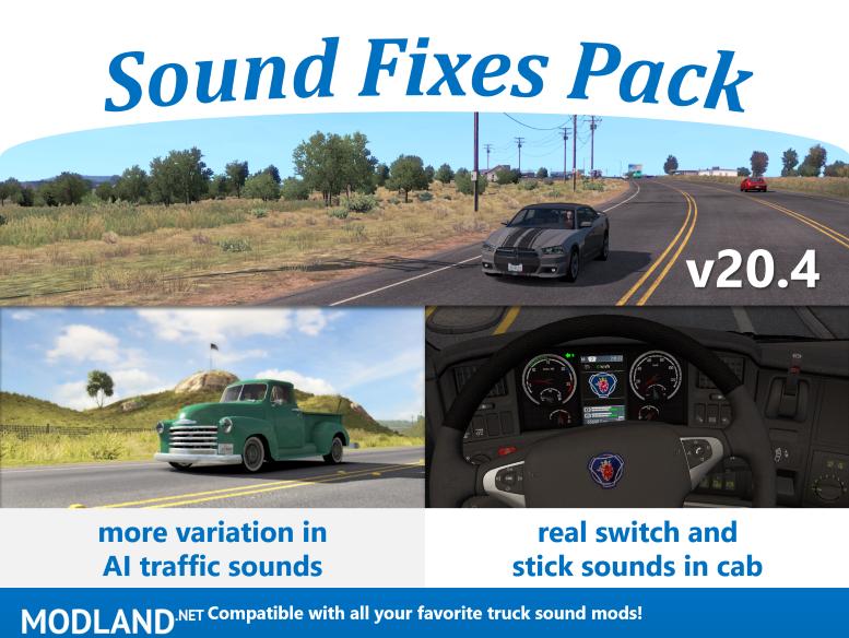 Sound Fixes Pack v20.4  ETS2 only 1.36