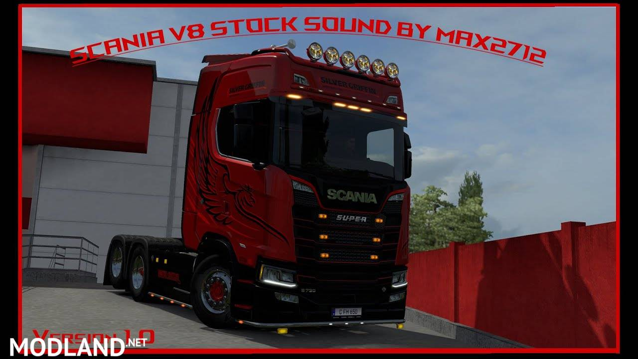 improvements and rework Scania 2016 V8 stock sound