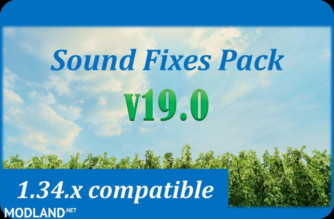 Sound Fixes Pack v 19.0 - ETS2 for v 1.34.x