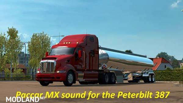 Paccar Stock Sound Mod for the Peterbilt 387 mod for ETS 2