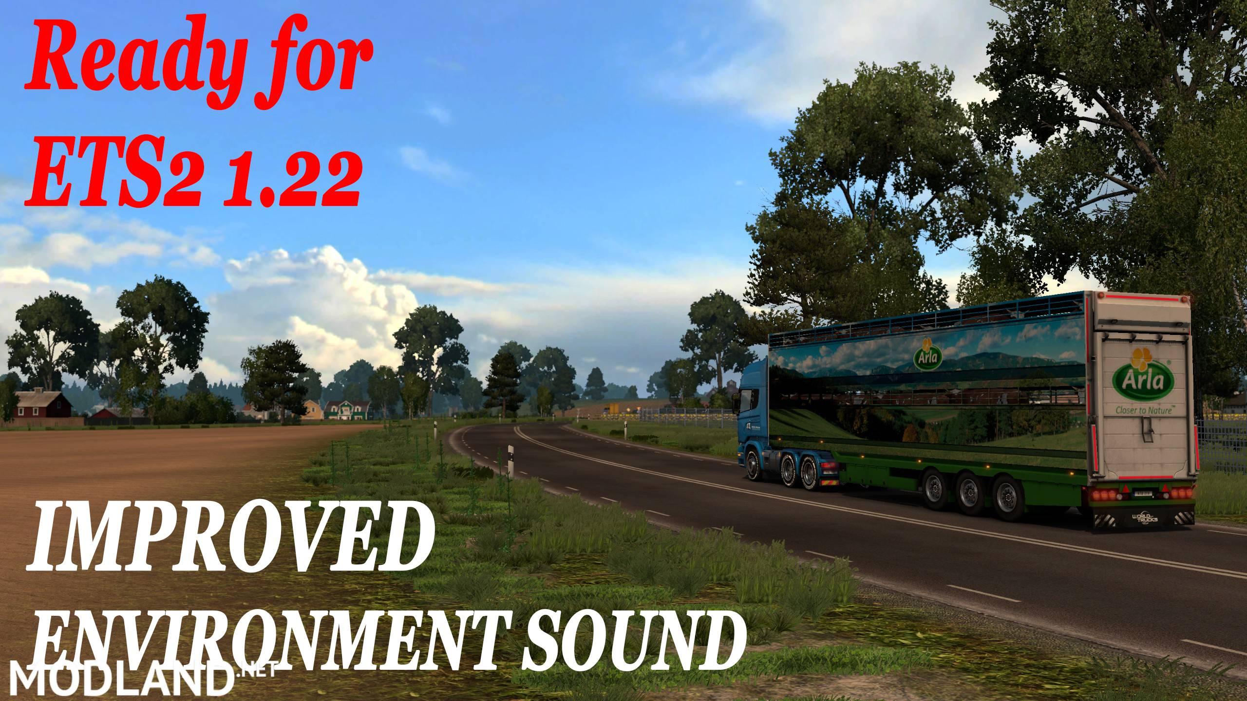 Improved Environment Sound V 1.0 Mod For ETS 2