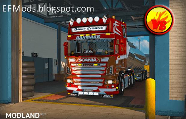 Scania V8 Sound EHD mod for ETS 2