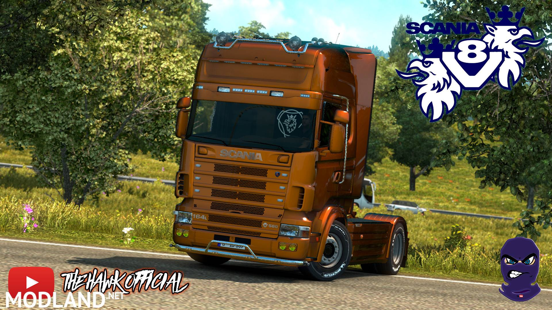 Open Pipe v8 sound for scania 4 series RJL mod for ETS 2