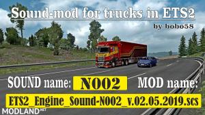 Sound mod for engine ETS2 1.34.x, 1 photo