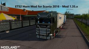 Horn Mod for Scania 2016 - ETS2 1.35, 1 photo