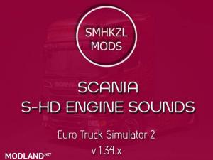 SCANIA S-HD Engine Sounds 1.34.x
