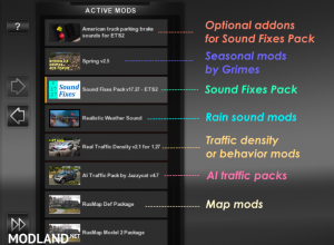 Sound Fixes Pack v 19.12 ETS2 1.35.1, 3 photo
