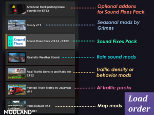 Sound Fixes Pack v20.4  ETS2 only 1.36, 2 photo