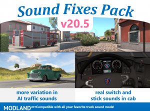 Sound Fixes Pack v20.5 ETS2 1.36 - External Download image