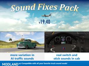 Sound Fixes Pack v19.40.1 ETS2 1.36, 1 photo
