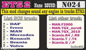 Engine Sound N024 ETS2 1.33.x, 1 photo