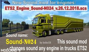 Engine Sound N024 ETS2 1.33.x, 2 photo