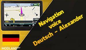 Navigation voice Deutsch - Alexander, 1 photo