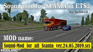 Sound mod for Scania in ETS2 1.34.x