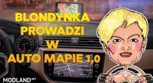 POLISH VOICE BLONDYNKA PROWADZI W AUTO MAPIE 1.0