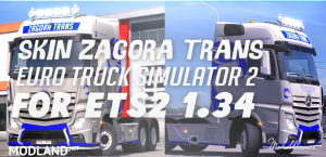 Skin - Zagora Transport - ETS2 1.34.X