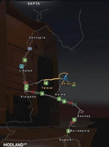 Baltics Country Map Beta Version v 0.1