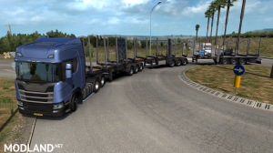 LOG TRAILER ROAD TRAIN [MP-SP] [Multiplayer] [TruckersMP], 1 photo