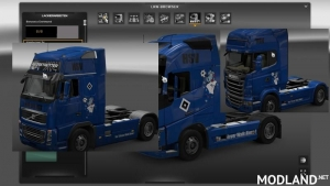 HSV Skins for Scania Volvo FH16, Volvo 2012 v alle