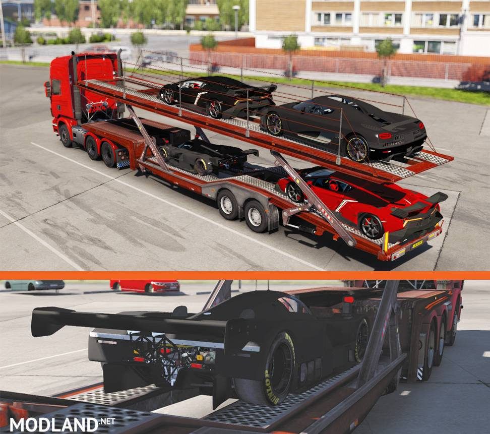 Super Cars Trailer By Farzad mod for ETS 2